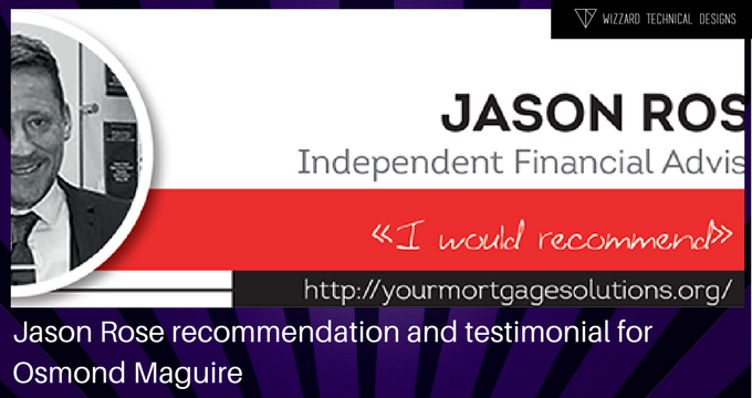 Jason Rose recommendation and testimonial for Osmond Maguire