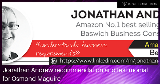 Jonathan Andrew recommendation/testimonial, Osmond Maguire