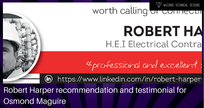 Robert Harper recommendation/testimonial for Osmond Maguire