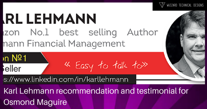 Karl Lehmann recommendation / testimonial for Osmond Maguire