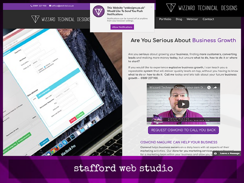 Web Design Staffordshire by WTDesigns