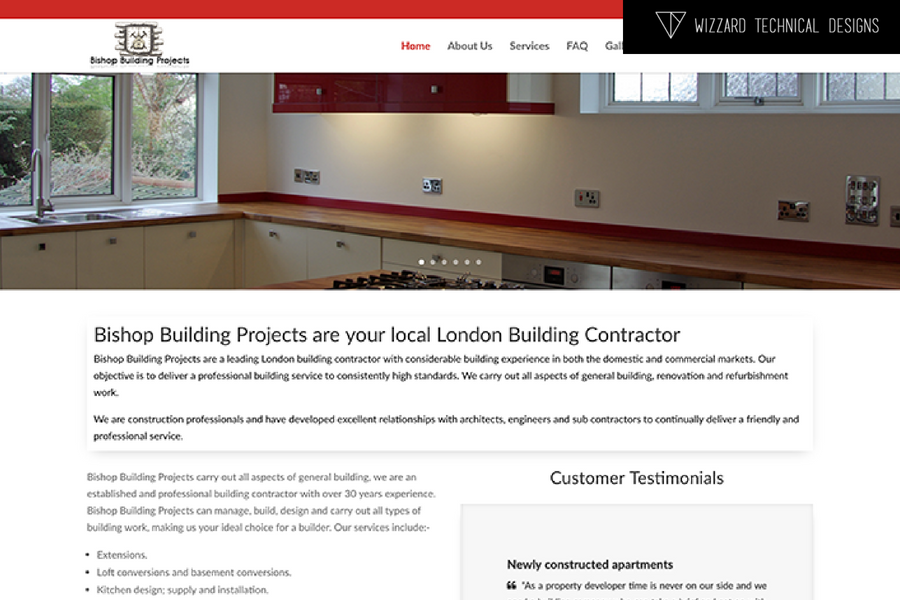 Bishop Building Projects WordPress Website Conversion