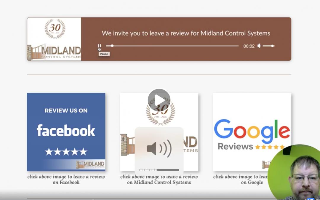 Customer Feedback form, for Midland Control Systems