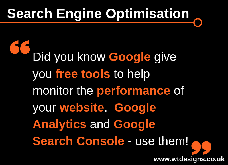 Search Engine Optimisation Tip for Monday 22nd April