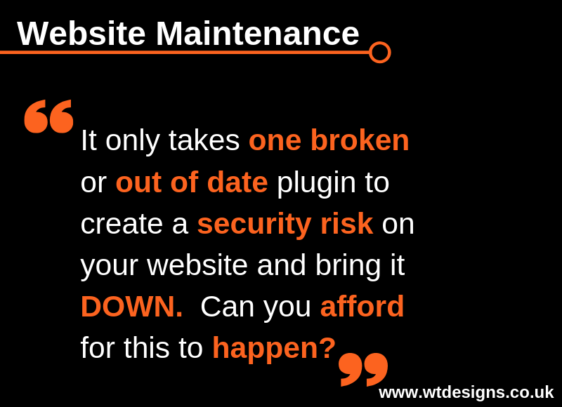 Website Maintenance Tip for Tuesday 23rd April