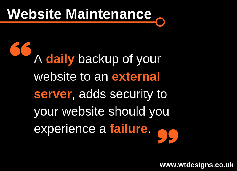 Website Maintenance Tip for Tuesday 16th April